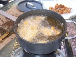 karaage frying